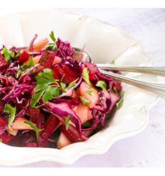 Red cabbage and celebry salad